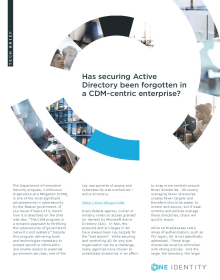 Has securing Active Directory been forgotten in a CDM-centric enterprise?