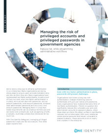 Managing the risk of privileged accounts and privileged passwords in government agencies